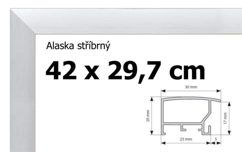 BFHM Alaska hliníkový rám na puzzle 42x29,7cm A3 - stříbrný