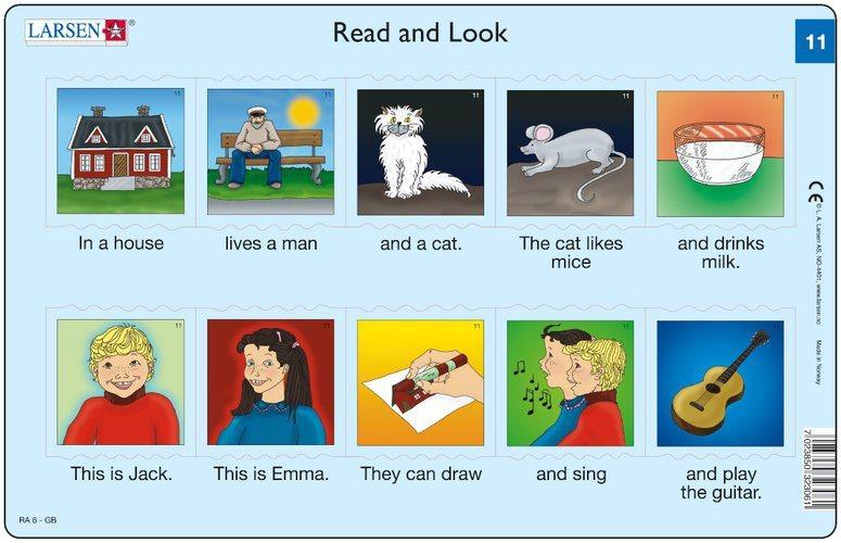 LARSEN Puzzle Angličtina (11) - Krátký text 10 dílků