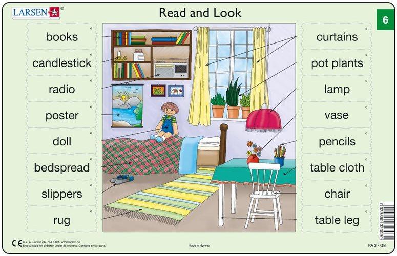 LARSEN Puzzle Angličtina (6) - Pokoj 16 dílků