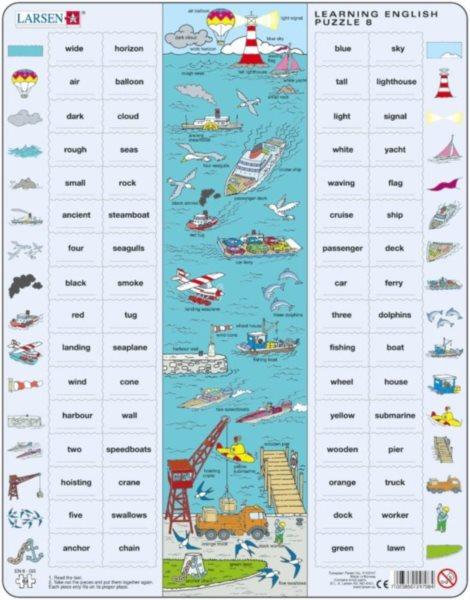 LARSEN Puzzle Angličtina 8: Na moři 64 dílků