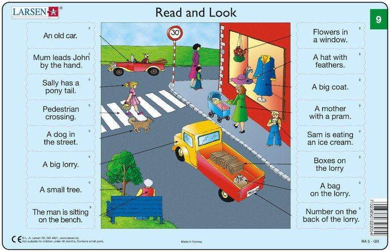 LARSEN Puzzle Angličtina (9) - Ulice 16 dílků