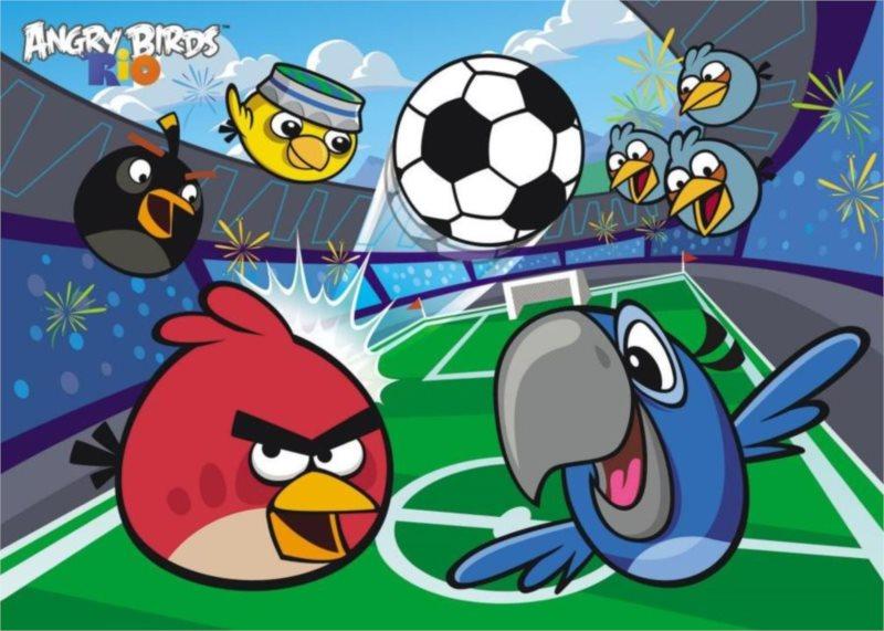 ALEXANDER Puzzle Angry Birds RIO: Vyhrajeme zápas! MAXI 20 dílků