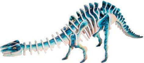 WOODEN TOY , WCK 3D puzzle Apatosaurus malý barevný