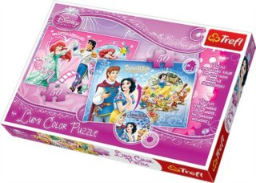 TREFL Lumi Color Puzzle Ariel a Sněhurka 2x50 dílků