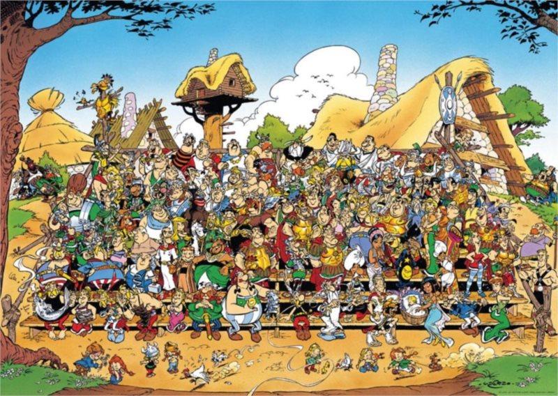 Puzzle RAVENSBURGER 1000 dílků - Asterix a Obelix: Rodinná fotka