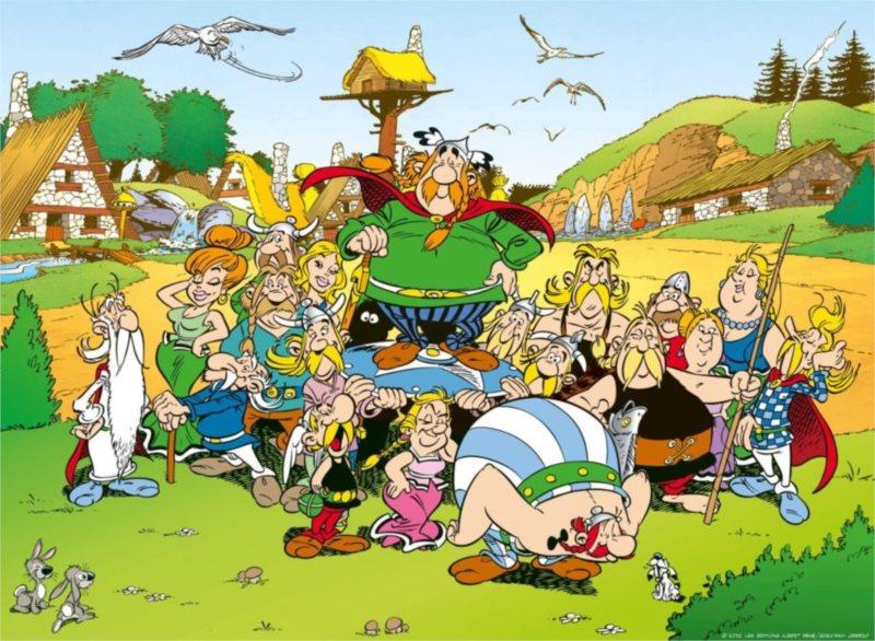 Puzzle RAVENSBURGER 500 dílků - Asterix a Obelix: Vesnička