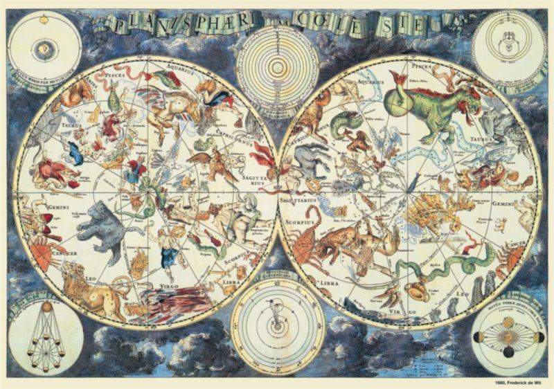 DINO puzzle 500 dílků - Astrologická mapa