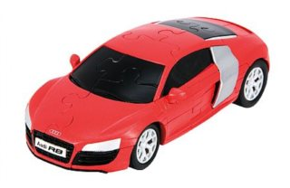 3D puzzle HAPPY WELL model Audi R8 1:32 červená