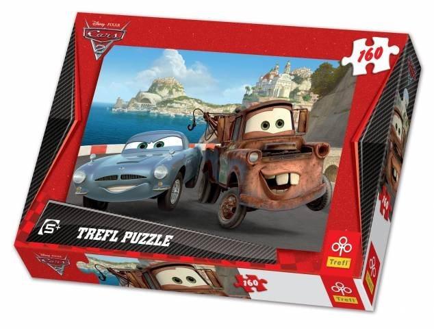 Puzzle pro děti TREFL 160 dílků - Auta 2: Burák a Finn