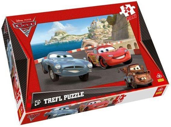 Maxi puzzle pro děti TREFL 24 dílků - Auta 2 (Cars 2): Závod