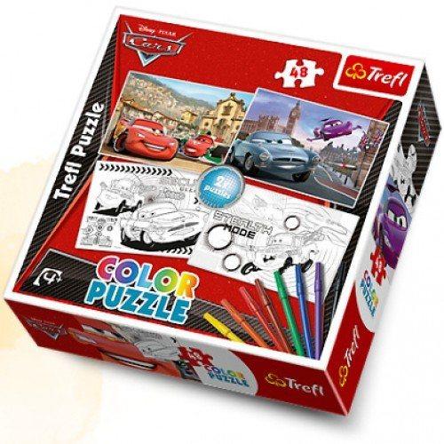 Dětské puzzle TREFL COLOR 2X48 dílků - Auta (Cars)