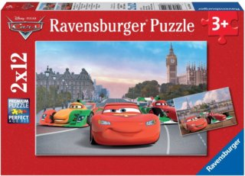 Dětské puzzle RAVENSBURGER 2x 12 dílků - Auta (Cars): Blesk McQueen a přátelé 2v1