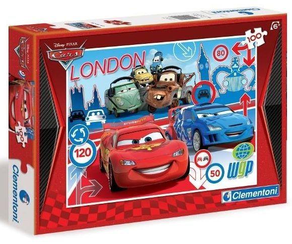 Dětské puzzle 100 dílků - Auta (Cars): Londýn