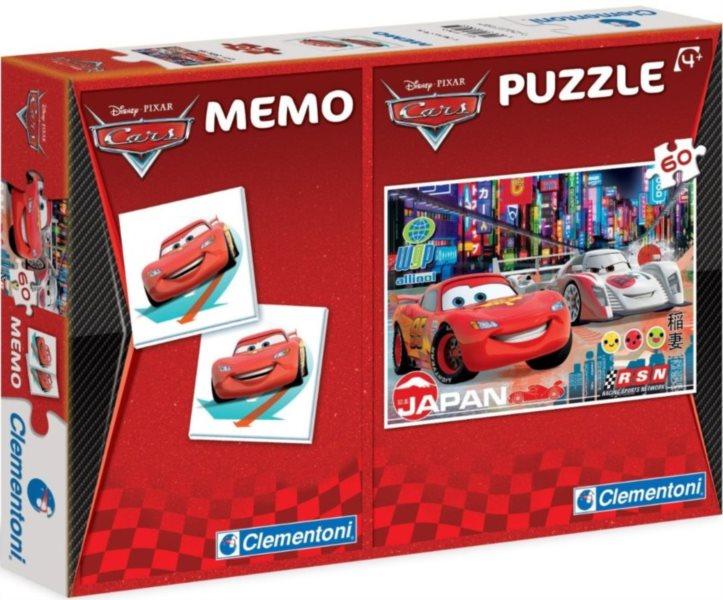 Dětské puzzle + pexeso: Auta (Cars), 60 dílků