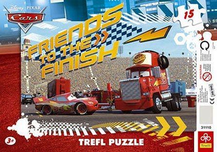 Deskové puzzle pro děti 15 dílků - Auta (Cars): Přátelé