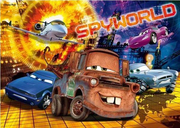 CLEMENTONI puzzle Auta Cars Spyworld 104 dílků