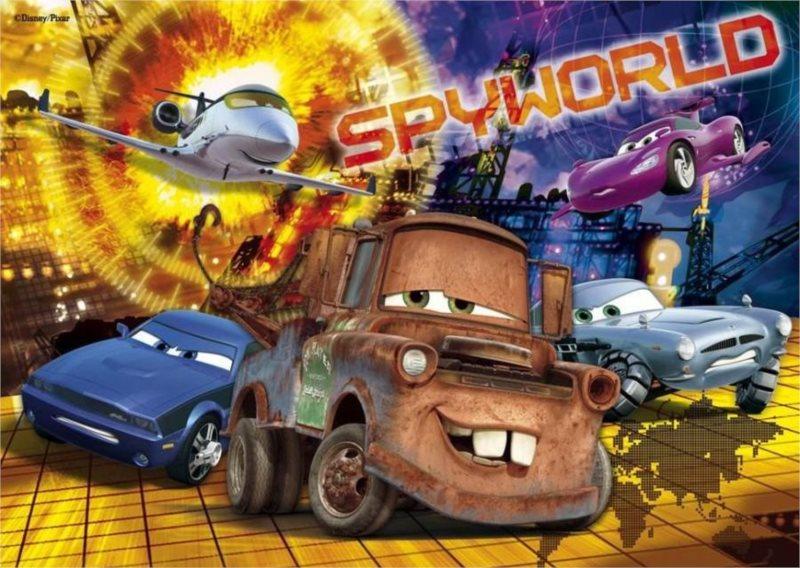 CLEMENTONI puzzle Auta Cars Spyworld 60 dílků