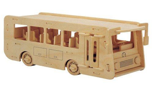 3D dřevěné puzzle - Autobus 3D