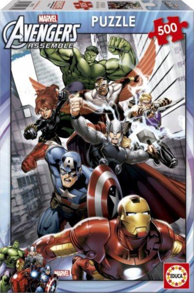 EDUCA Puzzle Avengers - Sjednocení 500 dílků