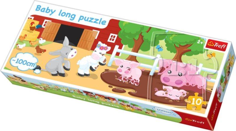 TREFL Baby oboustranné puzzle Farma 10 dílků