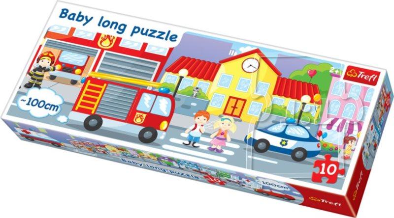 Puzzle pro děti (oboustranné) TREFL 10 dílků - Město