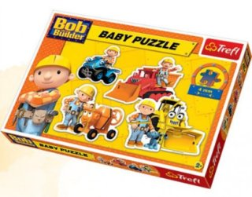 Puzzle pro nejmenší TREFL - Baby puzzle Bořek Stavitel II(4v1)