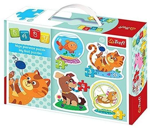 TREFL Baby puzzle Domácí mazlíčci 4v1 (2,3,4,5 dílků)