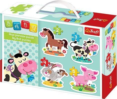 TREFL Baby puzzle Domácí zvířátka 4v1 (2,3,4,5 dílků)