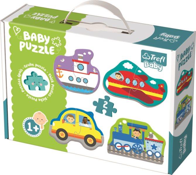 TREFL Baby puzzle Doprava 4x2 dílky