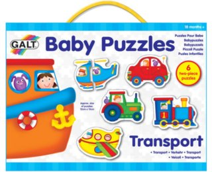 GALT Baby puzzle Doprava 6x2 dílky