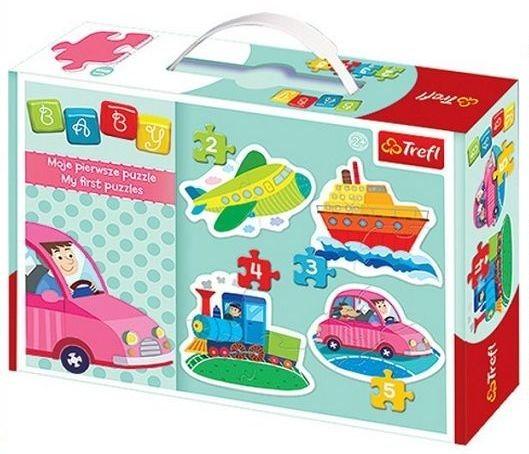 TREFL Baby puzzle Dopravní prostředky 4v1 (2,3,4,5 dílků)