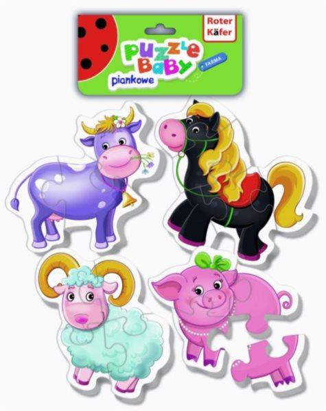 Dětské pěnové baby puzzle Farma 4v1