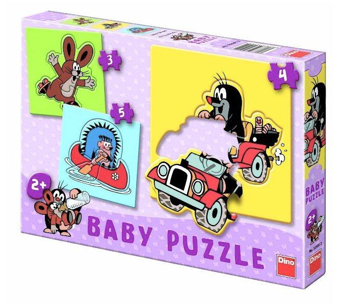 DINO Baby puzzle Krtek 3v1 (3,4,5 dílků)