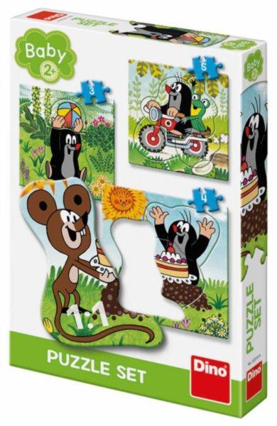 DINO Baby puzzle Krtek na louce 3v1 (3,4,5 dílků)