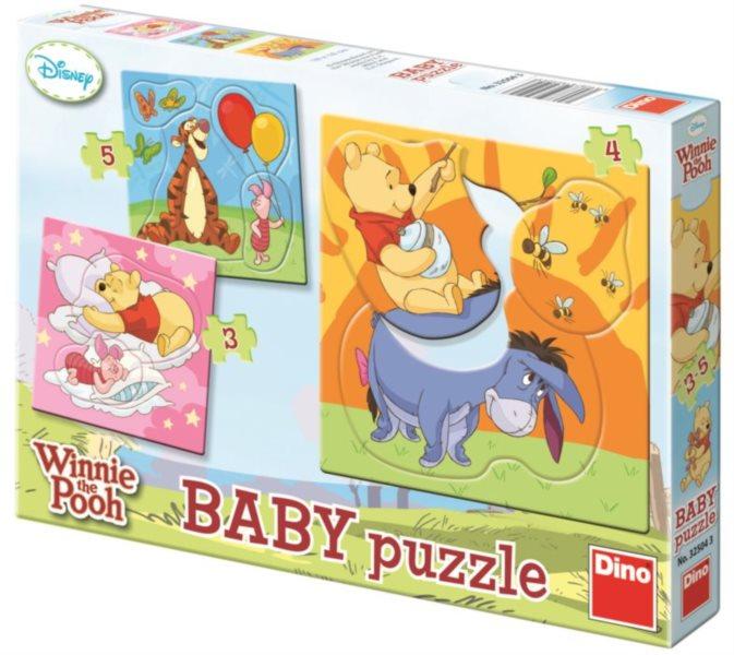 DINO Baby puzzle Medvídek Pú 3v1 (3,4,5 dílků)