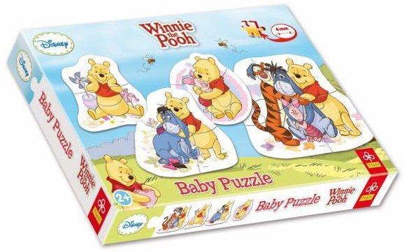Puzzle pro nejmenší TREFL - Baby puzzle Medvídek Pú (4v1)