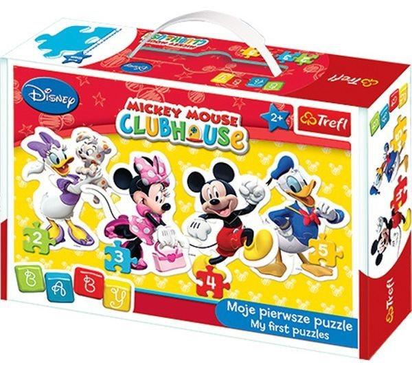 TREFL Baby puzzle Mickeyho klubík 4v1 (2,3,4,5 dílků)