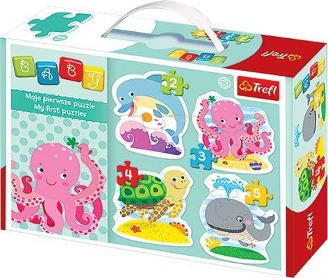 TREFL Baby puzzle Mořští živočichové 4v1 (2,3,4,5 dílků)