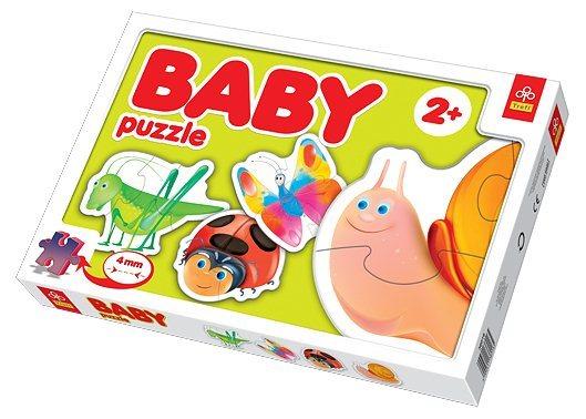 TREFL Baby puzzle Na louce 4v1 (2-4 dílky)