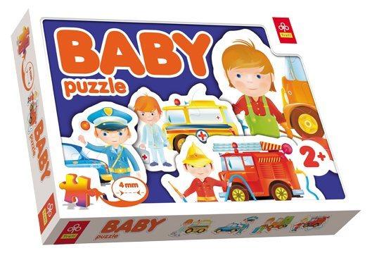 TREFL Baby puzzle Záchranáři 4v1 (2-4 dílky)
