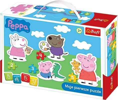 TREFL Baby puzzle Prasátko Pepina 4v1 (2,3,4,5 dílků)