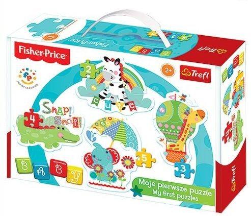 TREFL Baby puzzle Fisher Price Zvířátka 4v1 (2,3,4,5 dílků)