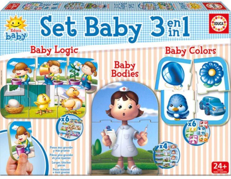 EDUCA Baby puzzle set 3v1
