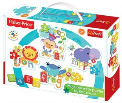TREFL Baby puzzle Fisher Price Veselá zvířátka 4v1 (2,3,4,5 dílků)