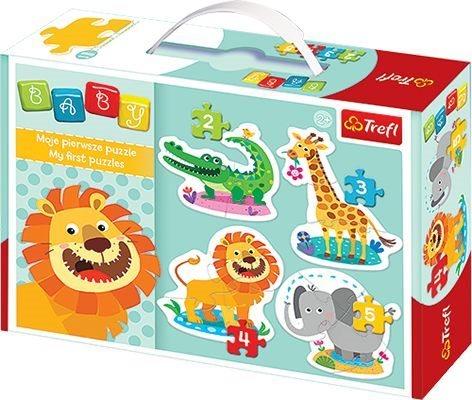 TREFL Baby puzzle Veselá zvířátka 4v1 (2,3,4,5 dílků)