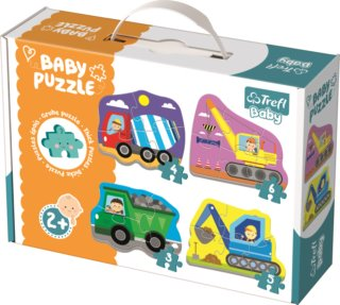TREFL Baby puzzle Vozidla na stavbě 4v1 (3,4,5,6 dílků)