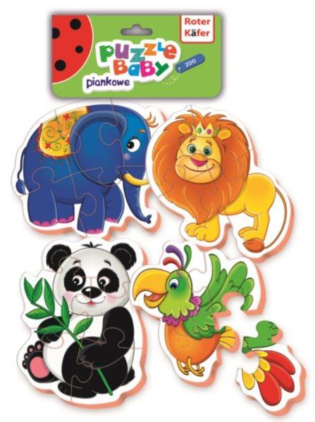 Dětské pěnové baby puzzle Zoo 4v1