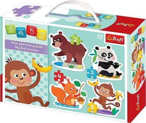 TREFL Baby puzzle Zvířátka a dobroty 4v1 (2,3,4,5 dílků)