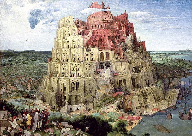 Puzzle TREFL 4000 dílků - Pieter Bruegel: Babylonská věž
