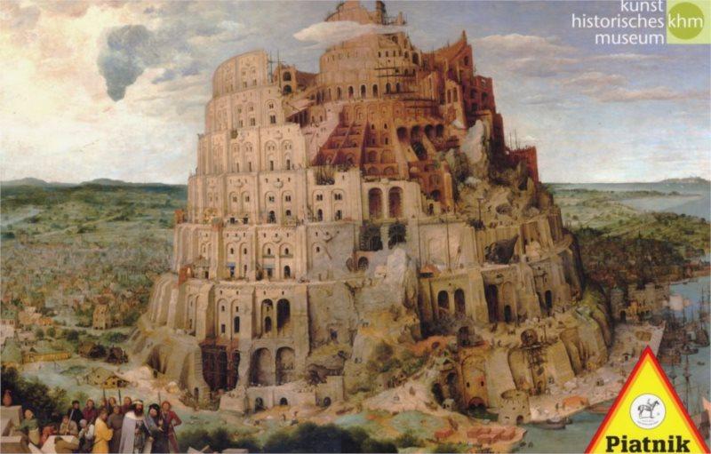 PIATNIK Puzzle Babylonská věž 1000 dílků